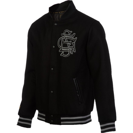 Sports Even if you didn't care about sports in school in all, the Emerica Campus Varsity Jacket lets you feel like you're part of The Team. It's probably just as well, because this one looks a lot cooler than your high school's lame colors anyway. - $97.97
