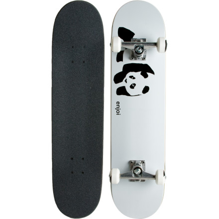 Skateboard There is only one master and he is neither black nor white. He's both, and he hides behind a cuddly cute facade. Like the master, this Enjoi Panda Complete Skateboard is a beast disguised as an easy-to-approach friendly creature; just pet him and he'll treat you right. Treat him badly, and he'll claw your face off. - $79.96