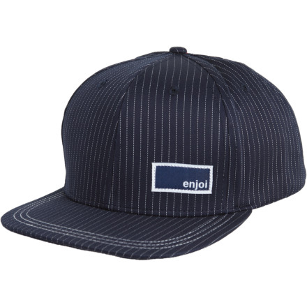 Get in on the big-monied, pinstriped action by tossing the Enjoi Cookie Cutter Hat on your head. Pinstriped suit, pinstriped hat, it's all the same really except this hat won't make you look like a greedy tool. - $13.48