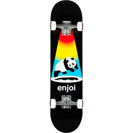 Skateboard The Enjoi Abduction Complete Skateboard might suggest that aliens are out to steal our pandas. However, it turns out that they just left them here for us to babysit for a few millenia, and they're now back to pick them up. - $89.96