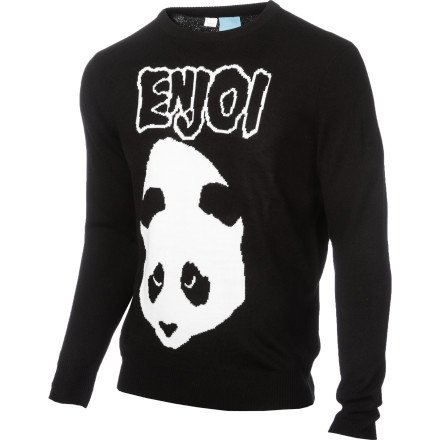 Skateboard When the leaves start to change and the air gets crisp, throw on the Enjoi Walk Among Us Men's Sweater, grab your skateboard, and head out to the park. It has an oversized jacquard logo to show how much you love pandas, too. - $38.47