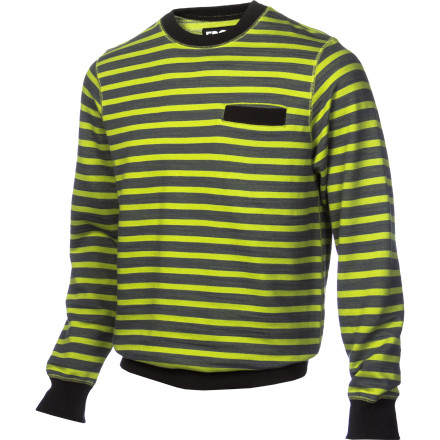 The ERGO Men's Moss Stripe Crew Sweatshirt has the perfect relaxed feel for sitting around the house and enjoying a fresh-from-the-fridge beer. Luckily, it also packs enough style to keep you looking good should you decide to leave your house to go grab a beer at an actual bar. - $32.37