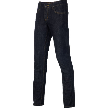 Entertainment The birds and the beasts use feathers and fur to dress themselves, but humans stick to jeans when they want to look good wherever they go. Slide your legs into the ERGO Men's Clothing Frisco Slim Denim Pants and let the slick stretch-denim pants help you look your best. - $37.17