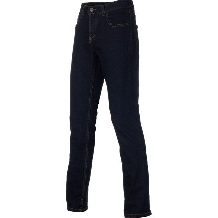 Entertainment Slip into your ERGO Men's Slick Slim Denim Pant and kick your feet up on the coffee table. Forget about mannerswhen your legs look this good, they need to be where people can see them. - $37.17