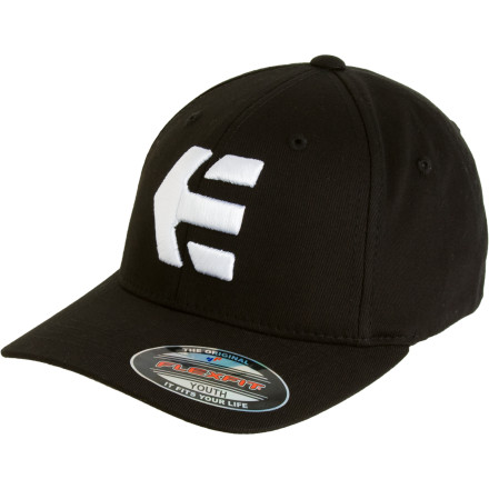 Skateboard Let's face it; icons number one through four are straight-up played. Spent. Donesville. Cover your kids' dome with the etnies Icon 5 Baseball Hat and send him off to be a legend. Don't be surprised if he shows up back with a few X-Games medals around his neck. - $11.48