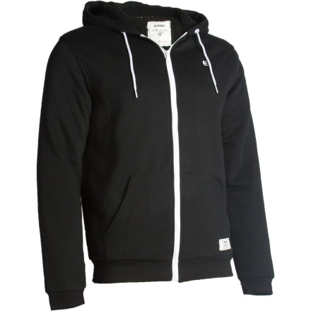 Skateboard There aren't too many hoodies out there that can handle brutal weather like the Etnies Classic Sherpa Full-Zip Hooded Sweatshirt. If you look closely you can see its bulging biceps and perpetual half-snarl. - $79.95