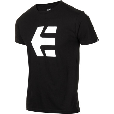 Skateboard Through the eyes of the uninformed, non-skater masses, the logo on the etnies Men's Icon T-Shirt may be confusing. To you, it represents the brand you rely on to skate successfully and comfortably. - $15.56