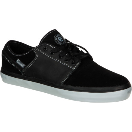 Skateboard Details make all the difference. The Etnies Bledsoe Skate Shoe, as low-profile as it is, will stand out among all the vulc kicks in the world, not only through its clean looks but through its hidden toggle lace-locking system, minimal padding, and durable material. - $34.98