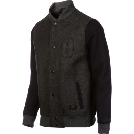 Skateboard Celebrate getting that GED by picking up the Etnies Dropout Men's Jacket. It features thick Melton wool and quilted polyfill insulation for warmth, making it perfectly suited to your future of working outdoors as a garbageman. - $71.97