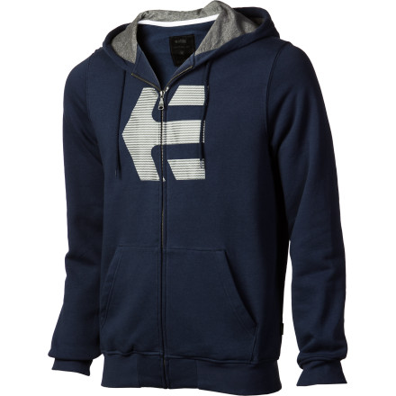 Skateboard Zip up the Etnies Mens Icon Full-Zip Hooded Sweatshirt and skate down to the donut shop to chuckle at the bacon. This sharp Etnies hoody might eat the occasional pastry, but hasnt lost its figure. - $33.57