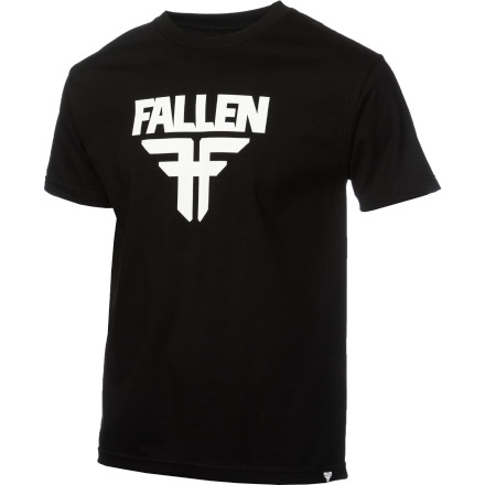 Skateboard As long as you are standing up the Fallen Men\\222s Insignia Logo T-Shirt will show your allegiance to all that is dark and awesome. If you fall down and land on your back, it\\222ll be a recipe for an epic fail. - $19.95