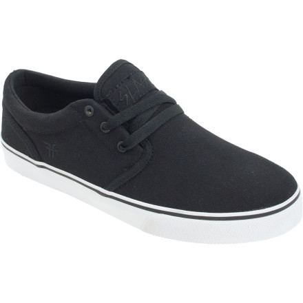 Skateboard Even though Brian Hansen, AKA Slash, possesses the skills to skate in a pair of fuzzy bath slippers, he rocks the Fallen Easy Skate Shoe because it has a low-profile and a durable suede and breathable canvas upper. - $37.02