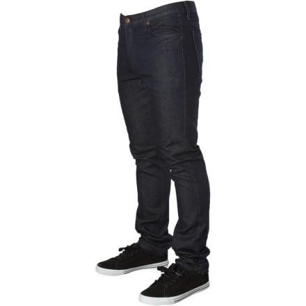 With a medium rise and a slightly tapered leg, the Fallen Men's Barrio Slim Denim Pant offers you a little something different than your standard baggies. Fallen logo hits on the waist and the inside hem add a touch of subtle style to these casual jeans fit for the street. - $31.48