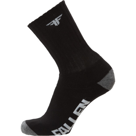 Skateboard The Fallen Trademark Sock 3-Pack includes three pair of gloriously clean socks to help you put off laundry day for at least another two weeks. - $14.21