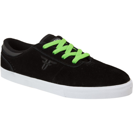 Skateboard The Fallen Vice Skate Shoe has a low-profile silhouette that's ready to absorb high-impact landings and look good doing it. The Vice's eyelet lacing keeps laces out of grip tape's way, and the seamless one-piece toe box means no ollie-zone blowouts. - $27.98