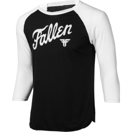 The Fallen Fury Raglan T-Shirt has a bit of a temper. Last time somebody looked at it funny, they woke up in a bathtub filled with ice, with their kidneys for sale on the black market. - $25.95