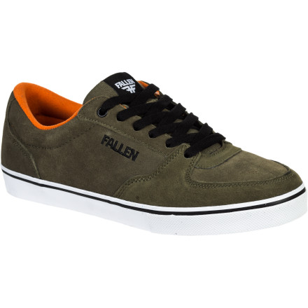 Skateboard You've been equipped with the Fallen Mission Men's Skate Shoe and sent on a covert operation to skate and destroy the heavily secured spots downtown. The durable suede upper and rubber sole can stand up to repeated attacks, and vulc construction provides better board feel so you can land your trick quicker and get in and out before Security even knows what hit it. - $56.00