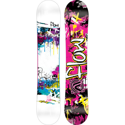 Snowboard Who said beginnings had to be humble Or hard, for that matter Certainly not the Flow Girls' Micron Velvet Snowboard. To make it easy on the progressing rider, the Micron Velvet uses true-twin geometry and Flow's learning-curve-shortening EZ-Rock profile, along with a hook-free EZ-DualTransitional sidecut to keep the carving smooth, balanced, and scorpion-free. - $119.99