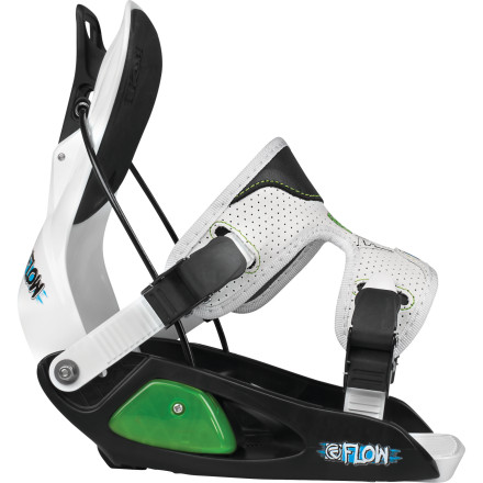 Snowboard Snowboarding can be tough to learn. When you're a kid, just strapping in can be a challenge. The Flow Micron Youth Binding solves this problem with Flow's legendary easy entry/exit system, so Junior will be more likely to stick it out all day and get his turns in. - $71.99