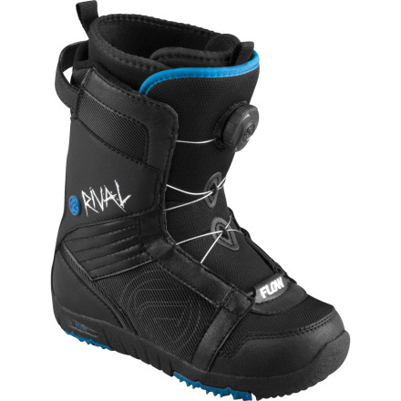 Snowboard Flow offers season-long frown management with the Rival Jr Snowboard Boot. The Rival Jr. features the BOA M3 lacing system for a perfect all-day fit every time without having to mess with laces that can get soggy or break. - $83.99