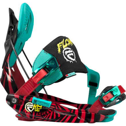 Snowboard The Flow M9-SE Binding represents a dramatic step forwards in Flow's ever-evolving lineup of bindings. Now with hybrid functionality ushered in by the advent of LSR buckles and HYBRID PowerCapStrap, you can step into the re-envisioned M9-SE with the rear SpeedEntry as usual, or you can strap in with conventional SideEntry. Whether you're into low-to-the-ground jibs or prefer airtime, the M9-SE with its rockered nylon baseplate and partial urethane highback, delivers the tweak and comfort you need by the boatload. - $155.99