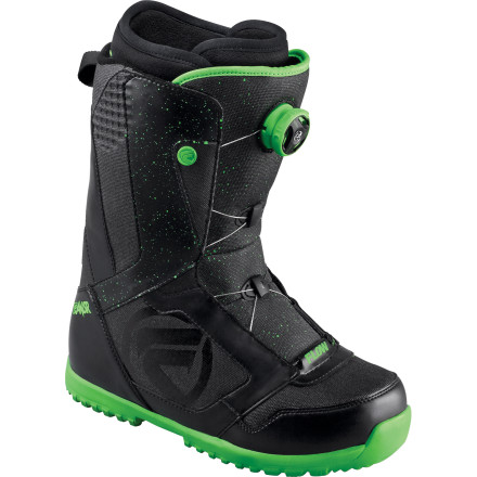 Snowboard Designed for progressive riders who value fit and comfort above all, the Flow Ansr Snowboard Boot delivers light weight and a soft flex with high-end features like the Boa H3 Coiler, a micro-articulating instep, and an anti-microbial finish that fights odors. - $107.99