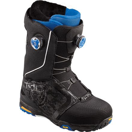 Snowboard Flow designed the Talon Snowboard Boot for all-mountain and freeride use in any weather conditions and any terrain in the world. The dual-zone BOA lacing system lets you dial your fit exactly, so you can set up the Talon to fit exactly how you want it to. - $244.99