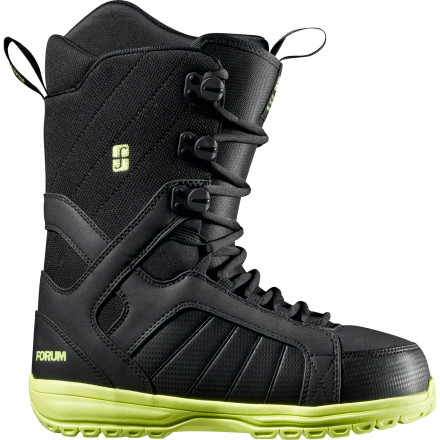Snowboard Rental boots are clunky, heavy, and, most importantly, are never quite the right size because so many people have worn them. It's time to switch to the Forum Fastplant Snowboard Boot. Forever Fit construction ensures these will fit you the same from the beginning of the season til the end, and the only foot funk you have to smell is your own brand. - $77.97
