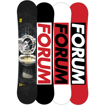 Snowboard If your idea of a great day of snowboarding involves setting up a drop-in, shoveling a lip, and sessioning a rail for hours under cover of darkness, then the Forum Contract Snowboard was made for you. Bad Ass construction features a beefed-up core, edges, and fiberglass so it can handle all the abuse you can throw at it, all without adding weight or sacrificing flex. Forum also threw in a two-year warranty just to prove how seriously they stand behind the bomber construction of the Contract. - $169.98