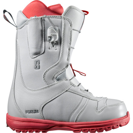 Snowboard Throw on your Forum Mist Women's Snowboard Boot and be on the chair before you friends have a single knot tied. Speed Zone lacing is a breeze to adjust, whether you're putting your boots on in the morning or simply giving yourself a little extra support before you drop into the jump line. - $79.98
