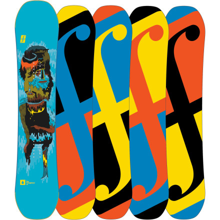 Snowboard The future of freestyle riding starts here. The Forum Kids' YoungBlood Mini DoubleDog Snowboard keeps up with the ambitions of hard-charging youth thanks to the super-charged pop of Forum's GrandPops technology and quality ingredients such as a sintered base and aspen Gnar core. - $149.98
