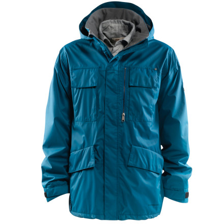 Snowboard The Foursquare Mens Torque Jacket knows how to seduce you with its tech flannel liner shirt that keeps you extra warm,you wont have to run into the warming hut to get your blood moving again and then get hosed by your bros for being such a shivering pansy. - $98.98