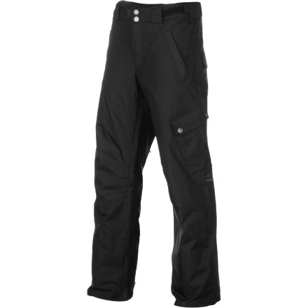 Snowboard Take the edge off winter's icy clutches with the Foursquare Work Insulated Pant. The Work Pant is packing light insulation and light waterproofing to add a little comfort to a chilly day of riding, and the single cargo pocket sets it apart with more storage space and a unique look. - $45.48