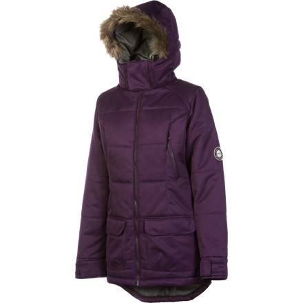 Snowboard The Foursquare Women's Fixture Insulated Jacket lets you get out there and ride on days when you used to have to sit at home because of the cold. Foursquare designed the Fixture with heavyweight synthetic insulation to get you through January's deep-freeze on your board instead of the couch. - $129.98