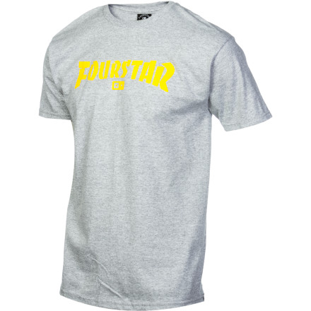Fourstar is cool. Thrasher Magazine is cool. You do the math behind the Fourstar Highspeed T-Shirt. - $11.67