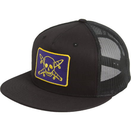 Plunder the Spanish Main in your Fourstar Pirate Mesh Snapback Hat. Be sure to not take any prisoners. - $18.17