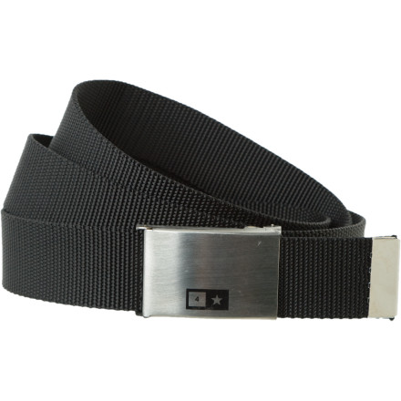 The Fourstar Bar Scout Belt doesn't come with any notches, which means that it still has a lot to prove. Let it start by holding up your pants and hanging tough despite the ongoing repercussions of your regular taco-cart patronage. - $13.95