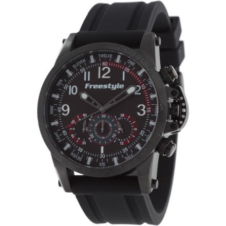 Entertainment Water, land, sea, or sky; the Freestyle USA Aviator PU Watch speaks volumes in both style and performance. Whether counting the seconds you can hold your breath underwater or breaking the world's record for longest skydive without a parachute, the Aviator PU will provide the comfort, looks, and precision timekeeping you need. - $179.95