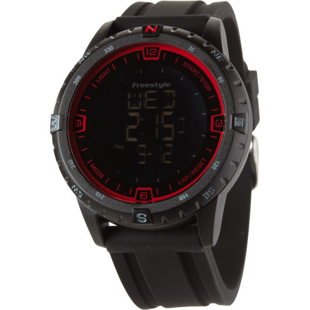 Entertainment Freestyle USA Touch Compass Watch features a touch activation screen, a multi-directional rotating top ring, and a sleek appearance for your active lifestyle. - $114.95