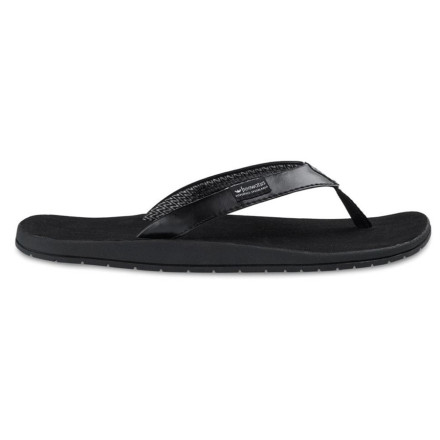 Surf The water-friendly Sola Sandal from Freewaters has a synthetic leather strap with an Eco-smart lining made from recycled PET bottles. This means you can play in the fountain downtown without worrying that your flips will be ruined, and you can feel good about the kind of footprint you leave behind. - $11.99