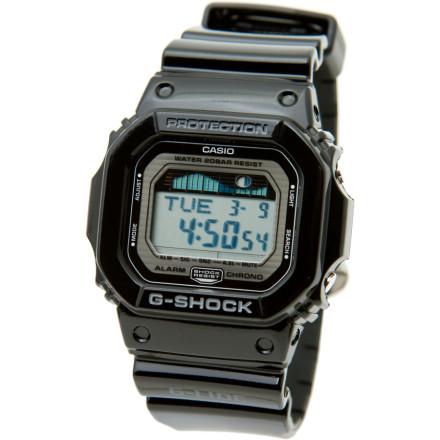 Surf G-Shock made its classic GLX5600 Watch tough and water-resistant enough to wrestle a gorilla in the ocean, and G-Shock gave it a tide graph with grip of alarms so you know when the surf is righteously pumping. A rugged rubberized housing and easy-to-read digital face means you can bail on a wave, whack the bottom, and still know the time later. Clean 80s styling keeps you looking fly at the bar. - $98.95