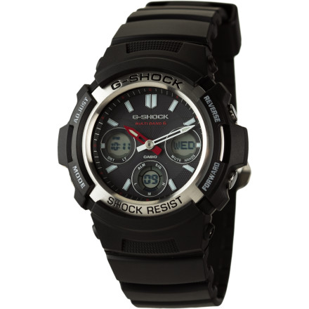Entertainment Get a watch that can keep up with you on all your adventures with the G-Shock AWGM100 Solar Watch. It's shock-resistant enough to keep ticking through your occasional tumble on your mountain bike and water-resistant to 200m so it can accompany you on your whitewater and high seas excursions. In addition, it's solar powered so you don't have to worry about it running out of juice midway through one of your journeys. - $149.95