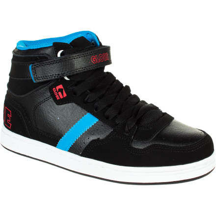 Skateboard Kids are fearless, so if they're going to ollie over stairs that are twice as tall as themselves, they should at least have plenty of ankle support (and a helmet). The Globe Superfly Kids' Skate Shoe is a high top style that features a hook-and-loop strap up top to prevent rolled ankles so he can get up after a fall and try it again. - $24.98
