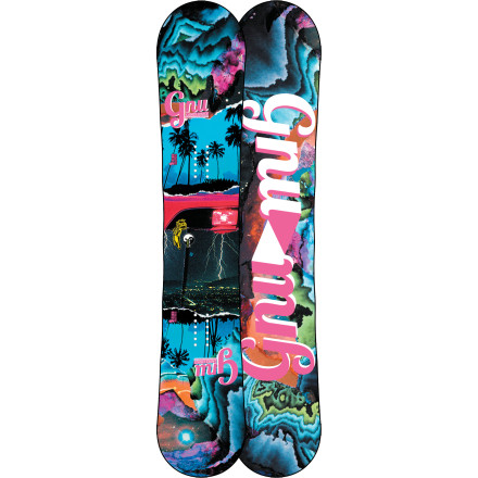 Snowboard The GNU Ladies Choice C2-PTX Snowboard is loaded with cutting-edge tech to make snowboarding more fun and fluid than ever. Asymmetrical Pickle Tech uses a deeper sidecut on your heelside edge for more balanced, natural-feeling carves, while the tried-and-true C2 hybrid rocker profile blends response and forgiveness to create a super-versatile ride that shines everywhere from the park to the backcountry. - $323.97