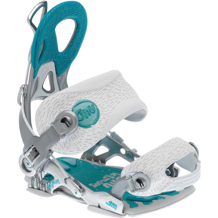 Snowboard Elevate your profile on the mountain when you rock the high-performance Gnu Women's B-Famous Snowboard Bindings. You'll ride better and longer thanks to the ultra-lightweight build and responsiveness of this medium-stiff binding; and once you have everyone's attention, you'll keep it thanks to the easy-peasy step-in design that eliminates time-wasting fiddling with strapping in. - $161.97