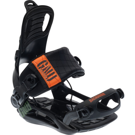 Snowboard Quick entries and exits and plenty of good times in between are yours with the Gnu Backdoor Snowboard Binding. The entire mountain is your playground when you're strapped into this lightweight, versatile binding. - $249.95