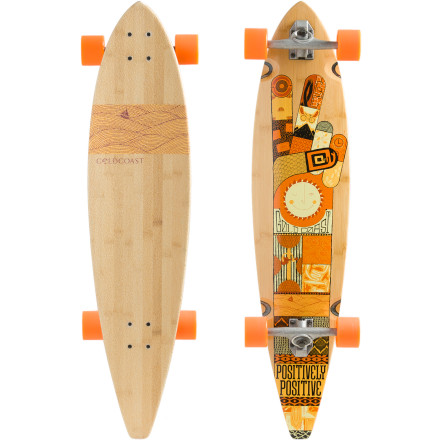 Skateboard Do you spend most of your time (free or on-the-clock) thinking about a freshly paved street or crowded boardwalk If so, then the drifter shape of the GoldCoast Origin Longboard is just right for your lack of focus on the so-called 'real life' and your total passion for cruising. Over-sized, gummy wheels are packed with A7 bearings to give you a swift-yet-smooth ride that's balanced by the loose, mellow feel of the reverse-pivot trucks. - $147.96