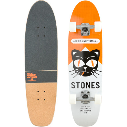 Skateboard If you're the kind of guy who heads out with no real 'plan' other than simply skating, then you'll appreciate the GoldCoast Softpack Longboard. Its bowl-ready renegade shape and ollie-capable kicktail suit your ability to shred a bowl when you feel like it and then cruise on flatland when you don't. So blast out the door and let the relatively small, super-soft wheels roll over cracks and blemishes while you ponder what a massive elitist enema of the city of angels would do for skaters like you. - $95.96