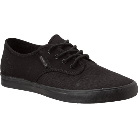 The Gravis Slymz Shoes trim the fat to deliver versatile, slimmed-down style. The canvas upper and classic vulc sole offer a timeless look that goes just about anywhere. The premium textile lining means you can comfortably rock em all summer without socksjust make sure to air them out. - $29.97