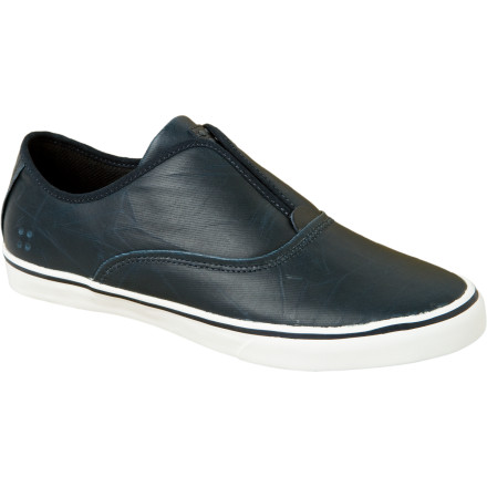 Skateboard Dylan Rieder likes to skateboard. He's known for lofty gaps and technical street prowess. He also has a few shoes with Gravis, and the Gravis Dylan Slip On LX Skate Shoe is one of them. It is a rather dapper looking vulcanized slip on. Your friends will think its cool and your mom will also think it looks nice. Does that qualify as a paradox - $44.17